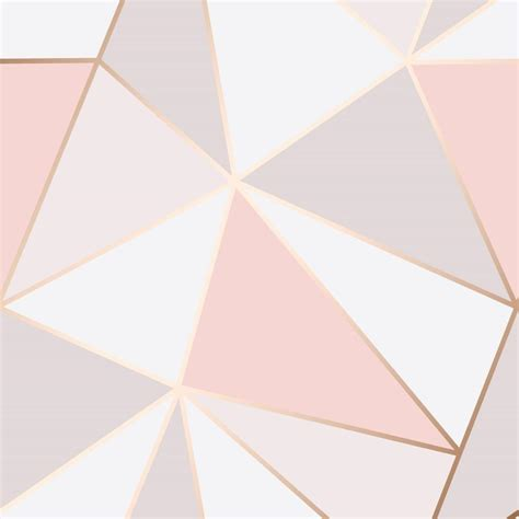 pink gold geometric wallpaper brokers melbourne stock store