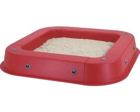 sandkasten kunststoff mit boden sandkasten kettler kunststoff mit schutzh 252 lle 145x145 cm rot bei hornbach kaufen