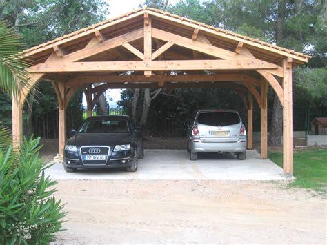 abri de voiture en bois carport 2 voitures charpente en kit d 39 abri de voiture