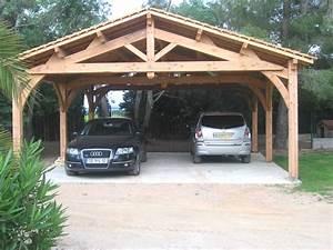 Garage Voiture En Bois : carport 2 voitures charpente en kit d 39 abri de voiture of abri avec enchanteur carport 2 ~ Dallasstarsshop.com Idées de Décoration