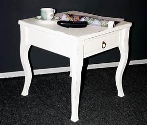 Beistelltisch Antik Weiß : massivholz beistelltisch wei antik couchtisch mit schublade nachttisch nachtkommode ~ Sanjose-hotels-ca.com Haus und Dekorationen