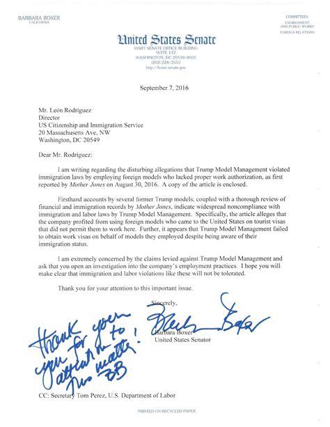 senator calls  homeland security  investigate trumps