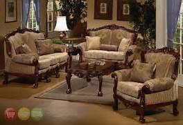 Living Room Set Furniture by European Design Formal Living Room Set W Carved Wood HD 94