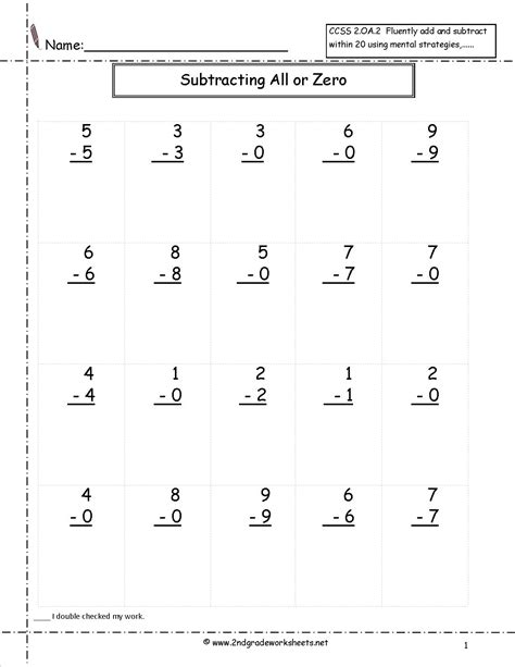 17 Best Images Of Subtracting By 0 Worksheet  Adding And Subtracting Zero Worksheets