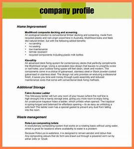 8 company profile format template company letterhead for How to make a company profile template