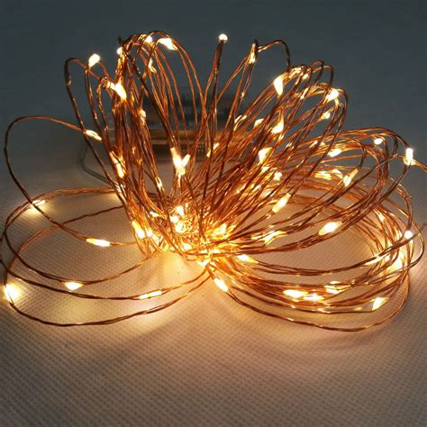 battery operated christmas string lights 10m 100 led 3 aa battery powered decorative led copper