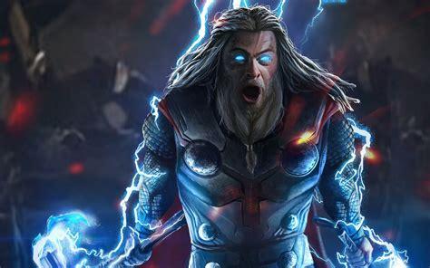thor lightning avengers endgame   wallpaper