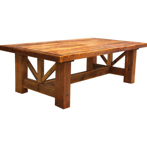 rustic dining table creek farmhouse trestle dining table nc rustic 6453