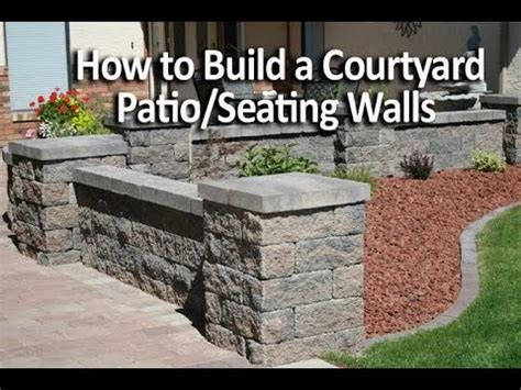 How To Build A Patio by How To Build A Patio Enclosure With Seating Walls
