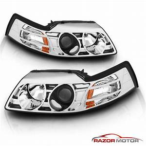1999 2000 2001 2002 2003 2004 Ford Mustang Chrome Projector Headlights Set | eBay