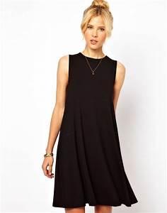 sleeveless swing dress With asos robe noire