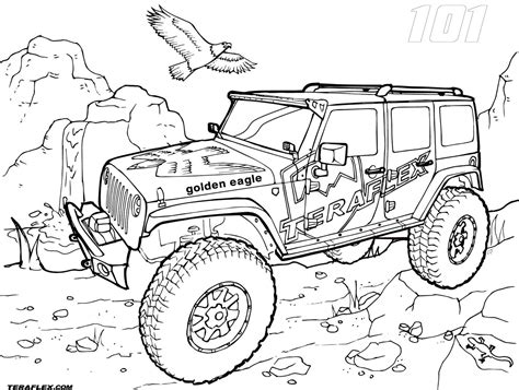 jeep wrangler coloring pages  getcoloringscom