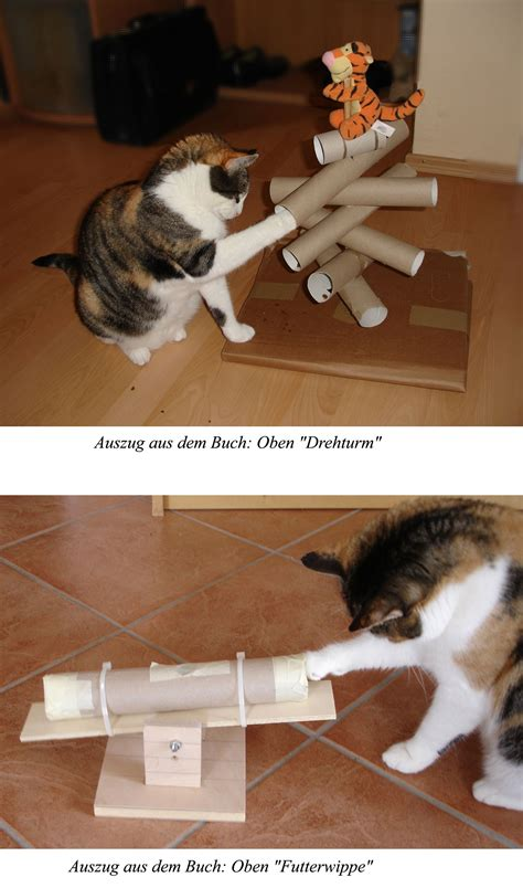bastelheft katzenspielzeug kostenlos basteln anfro fun