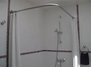 Barre De Baignoire D Angle A Ventouse : tringle rideau de douche galbobain sur mesure pour douche ~ Premium-room.com Idées de Décoration