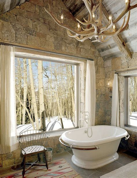 exquisite inspired bathrooms with stone walls