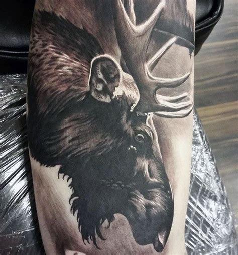 Moose Tattoo Designs For Men Antler Ink Ideas