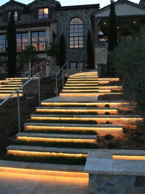 outdoor step lighting ideas   romantic