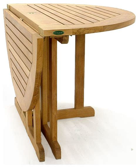barbuda teak folding 4 dia table modern outdoor