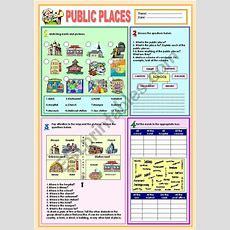 Public Places Worksheet  Vocabulary  Vocabulary Worksheets, Worksheets, English Vocabulary