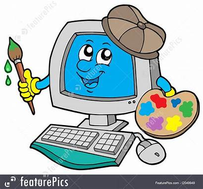 Computer Cartoon Artist Illustration Vector Painting Technology