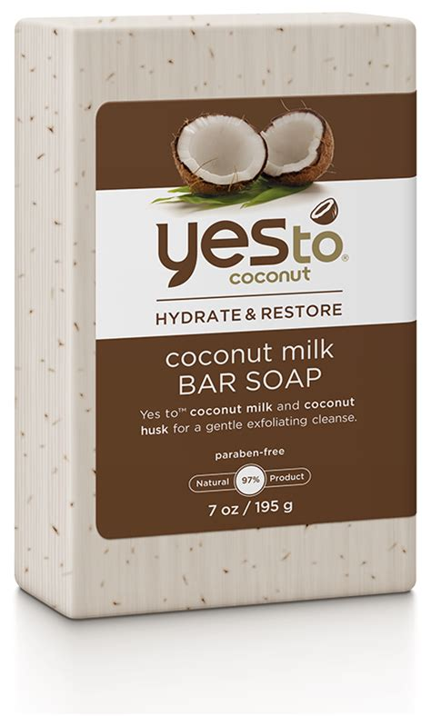 shower soap yes to coconut bar soap