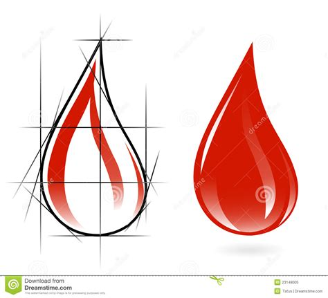 Sketch Of Blood Drop Royalty Free Stock Photo Image