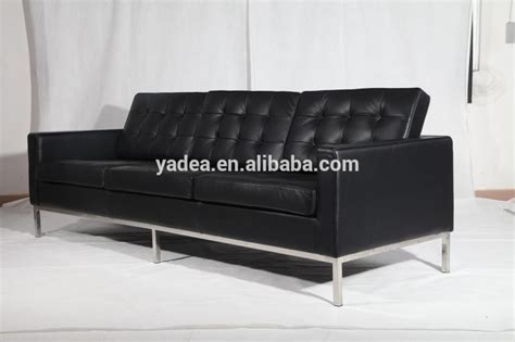 buy alibaba black leather florence knoll lounge chair and