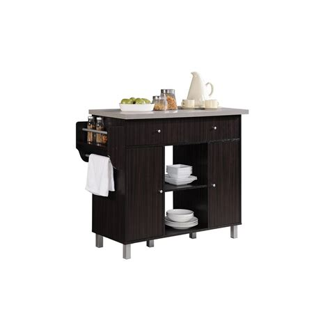 images of kitchen islands hodedah kitchen island chocolate grey with spice rack and 4640