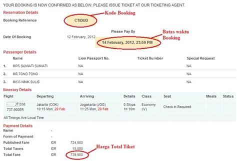 contoh surat kuasa refund tiket lion air contoh ijk