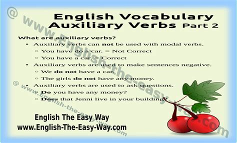 Auxiliary Verbs Usage  English Grammar  English The Easy Way