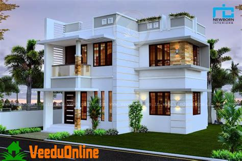 Beautiful Double Floor House Plan Suit 3 Cent