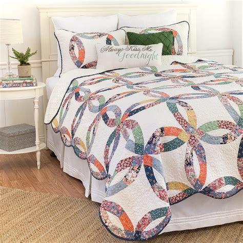 heritage wedding ring full queen quilt standard shams bedding