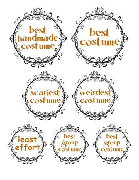 printable halloween award ribbons festival collections
