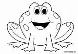 Frog Coloring Pages Outline Clipart Animals Preschool Frogs Printable Valentine Clip Template Print Cartoon Sheets Clipground Bestofcoloring Nuttin Pattern Visit sketch template