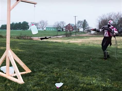 guy builds  swings real life blades  chaos  god