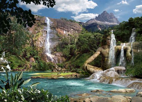 Waterfalls Mountain By Hanspeterkolb On Deviantart
