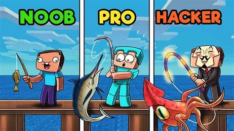 minecraft fishing contest noob  pro  hacker youtube