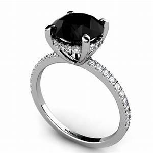 Noire 300ct Black Diamond Engagement Ring AAA Grade