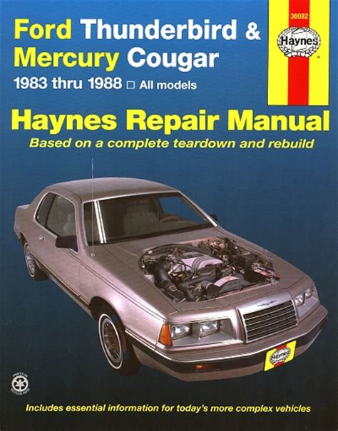 download car manuals 1989 ford thunderbird free book repair manuals ford thunderbird mercury cougar repair manual 1983 1988 haynes