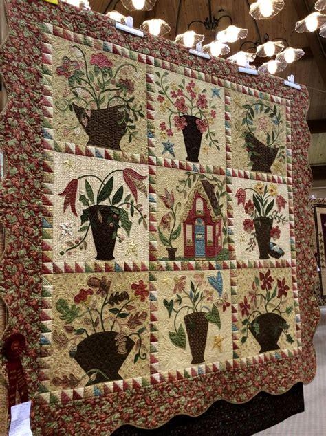 the quilters garden my cottage garden quilt at sauder village quilt show in northwest ohio over 400 quilts the