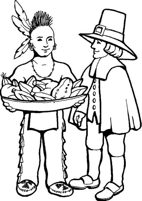 pilgrim coloring pages    print