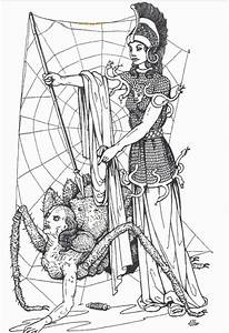 Athena and Arachne illustration by Edouard Sandoz from ...