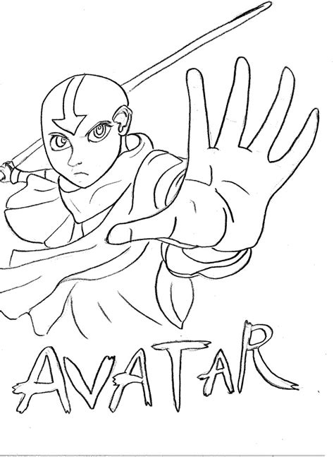 coloring page tv series coloring page avatar picgifscom