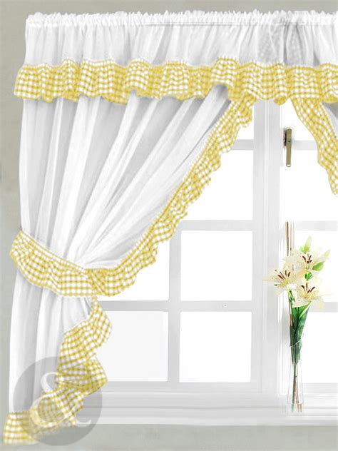 yellow kitchen curtains images   buy kitchen