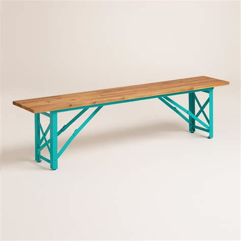 beer garden table and benches blue beer garden dining bench world market