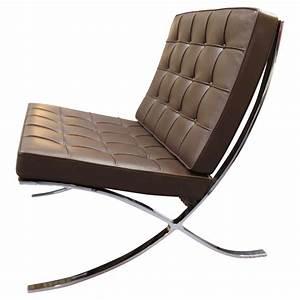 Fauteuil Mies Van Der Rohe : fauteuil barcelona cuir chocolat par ludwig mies van der rohe pour knoll chaises fauteuils ~ Melissatoandfro.com Idées de Décoration