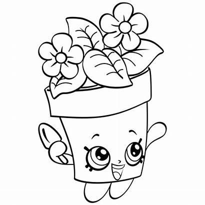 Shopkins Coloring Pages Season Plant Petkins Clipart