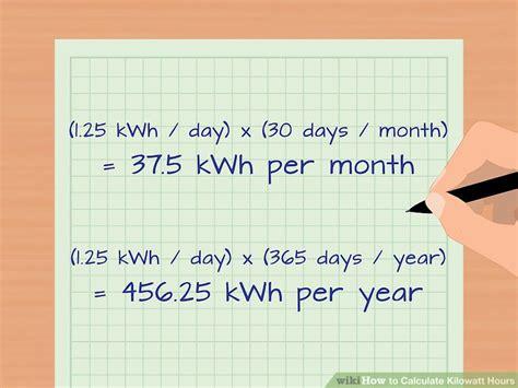 how to calculate kilowatt hours with calculator wikihow
