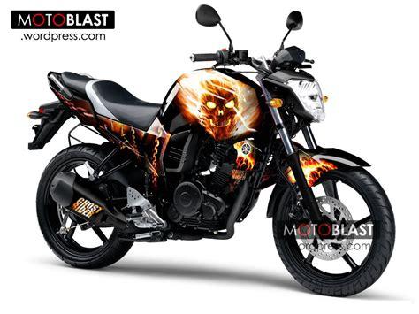 Modif Striping New Cb150r Hitam Merah by Modif Stiping Byson Ala Ghost Rider Style Banget