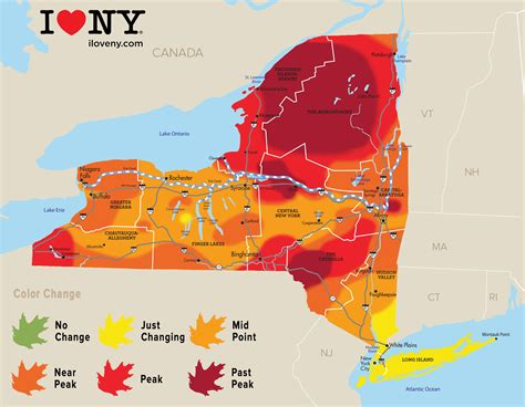 new york state colors upstate ny fall foliage peak colors abound in several